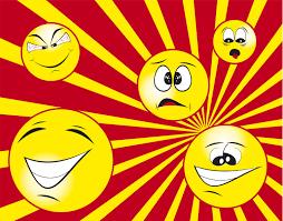Emoji emotional levels: happy, mad, sad, fear