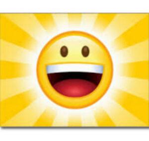 happy emoji, bright yellow.