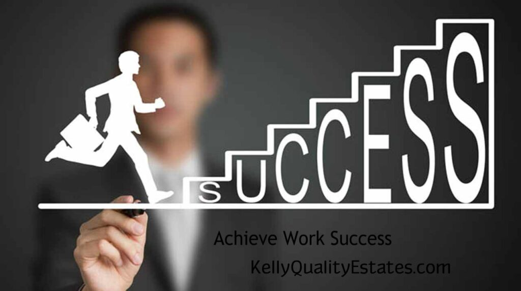 silhouette of business man running up stairs, climbing stairs that say success.  This is how you find work in challenging times.